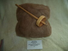 Kit - Drop spindle and Redish Brown Washed Alpaca Roving, Huacaya -  4oz bags