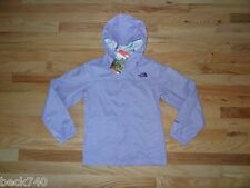 New North Face Girls Zipline Nylon Windbreaker Rain Jacket Hyvent Purple L 14/16