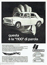 PUBLICITE ADVERTISING 046  1969  la J 4 Innocenti 1100