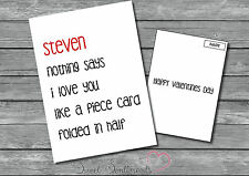 Personalised Funny Rude Adult Half Card  Valentines Day Card  A5