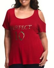 Baby Phat Women's Graphic T Shirt To PERFECT 10 Red Crimson Plus Size 3X XXXL