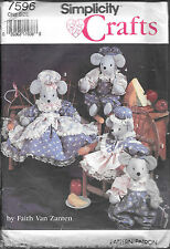 "UNCUT Simplicity craft sewing pattern 7596 mice mouse clothes 14/18"" vintage"