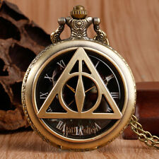 The Deathly Hallows Harry Potter Lord Voldemort Bronze Men Pocket Watch Necklace