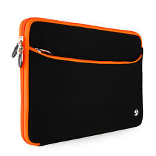 Neoprene Black/Orange Laptop Carrying Sleeve for ASUS ROG G750JS 17-Inch