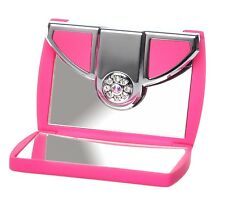 Danielle 5x Magnification Pink Envelope Swarovski Travel Makeup Compact Mirror