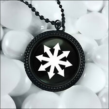 Chaos Theory Symbol Butterfly Effect Philosophy Black Glass Pendant Necklace