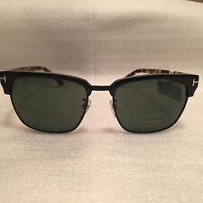 Tom Ford TF 367 02B River Matte Black Havana / Green Lens Sunglasses