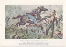 """1974 Vintage Currier & Ives """"RESACA de la PALMA"""" (MEXICAN WAR) COLOR Lithograph"""