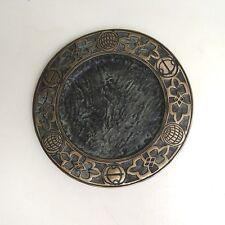 Hochwertiger Babcock Bronze Wandteller Teller ca. 19,5 cm ca. 1,4 Kg