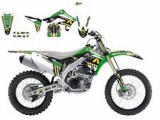 BLACKBIRD KAWASAKI KXF 450 2012 KIT GRAFICHE ADESIVI ARMA ENERGY GRAPHICS NERE