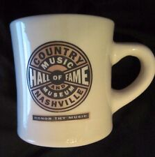 COUNTRY MUSIC HALL OF FAME Museum NASHVILLE Restaurant Ware Diner Style Mug RARE