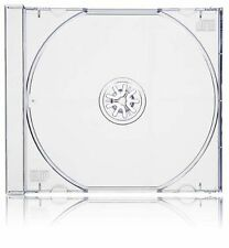 50 x CD JEWEL CASES COMPLETE WITH CLEAR TRAYS Made in UK FREE delivery