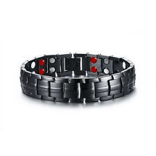4 Element Double Row Stainless Steel Energy Magnetic Health Bracelet Pain Relief