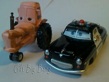2PCS Mattel Disney Pixar Cars Sheriff & Tractor Chewall 1:55 New in Stock Loose