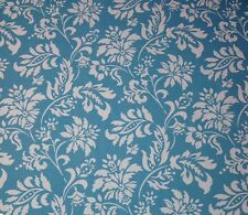 "MILL CREEK WEXFORD LAGOON BLUE FLORAL WHITE FURNITURE FABRIC BY THE YARD 54""W"