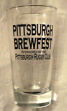Pittsburgh Brewfest Drinking Rocks Glass Rugby Club Beer Collectible ✿