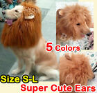 Pet Costume Lion Mane Wig Dog Cat Halloween Clothes Fancy Dress up with Ears #2