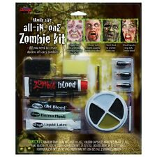 Halloween Zombie Family Make Up Kit With Liquid Latex + Fake Blood FW9571