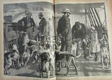 JOURNAL DES VOYAGES N° 615 de 1889 ANGLETERRE CHASSE CHIEN FOX HUNTING / ISLANDE