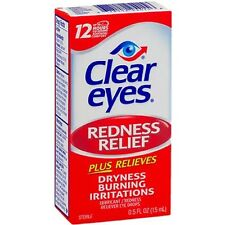 Clear Eyes Redness Relief Drops 0.50 oz (Pack of 2)