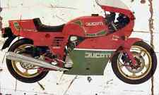 Ducati MHR Mille 1986 Aged Vintage SIGN A3 LARGE Retro