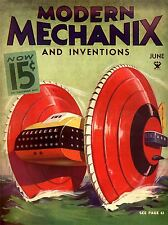 MAGAZINE COVER 1934 BUZZ SAW LINER MODERN MECHANIX ART POSTER PRINT LV1753