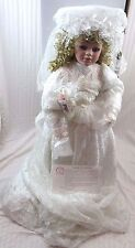 "Norma Rambaud ""Rachel"" Bride Doll, World Gallery Porcelain Doll 30"""