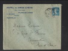 """FLERS-de-L'ORNE (61) HOTEL DU GROS CHENE """"A. GAUBERT Propriétaire"""" voyagée 1925"""