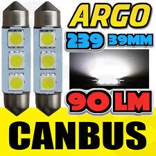 2X renault clio MK3 2.0 239 C5W intérieur blanc boîte à gants ampoule led upgrade éclairage