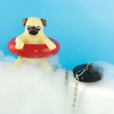 Bath Pug Bath Plug Novelty Floating Dog Water Game Fun Toy Xmas Adults Kids Gift