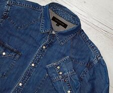 EXTRA! TOMMY HILFIGER JEANS DENIM SHIRT SIZE M MEDIUM