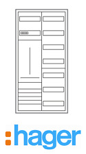 Hager Zählerschrank 1 Zähler 1100mm 3.HZ / ZB322P17K Komplettschrank (neue VDE)