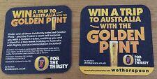 Fosters Golden Ticket beer mat/coaster, new