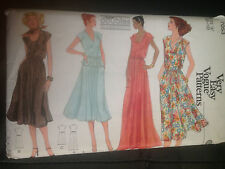 VOGUE Vintage sewing pattern dresses, top and skirt SIZE 8 (7053)