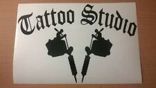 Studio de tatouage Vitrine Porte Signe Vinyle Decal Mur Art graphique Autocollant gun ink