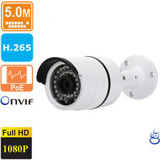 5MP POE IP Bullet 3.6mm Security Camera Outdoor Night Vision 1080P IP67 ONVIF