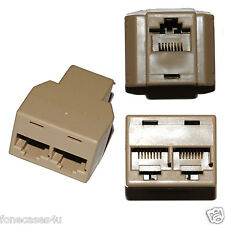 Ethernet RJ45 3 Way Network Cable Splitter Extend PLUG Extender Add on