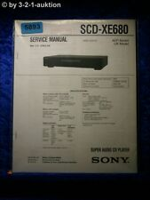 Sony Service Manual SCD XE680 Super Audio CD Player (#5893)
