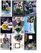 PACKERS massive lot AUTO jersey 2700 + cards FAVRE rodgers COBB white NELSON