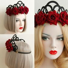 Nice Rose Flower Queen Crown Headband Hair Headpiece Halloween Party Accessories
