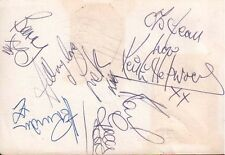 HERMANS HERMITS & GARRY FARR & THE T-BONES SIGNED AUTOGRAPHS