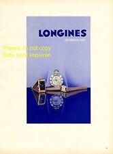 Longines Uhr XL Reklame 1941 Armbanduhr Taschenuhr Werbung sehr selten  +