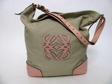 LOEWE CANVAS LEATHER MONOGRAM LOGO HANDBAG BUCKET SHOPPER TOTE LARGE PURSE