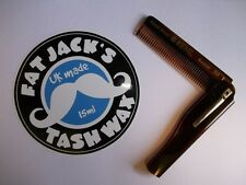 Kent 20T Folding Pocket Moustache & Beard Comb Hand Made - CHEAPEST UK SELLER!