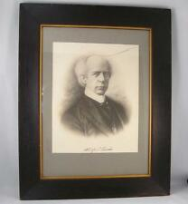 ANTIQUE 1900`s WILFRID LAURIER PRINT/LITHO W/ FACSIMILE SIGNATURE  FRAMED