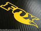 2x Yellow Fox Shox Tail Vinyl Decal Sticker Forks / Mountain Bike / Frame Set
