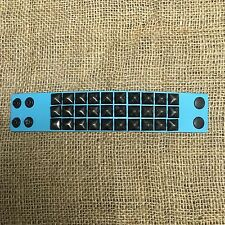 Hot Topic Studded Bracelet - Blue Leather Black Pyramid Studs - Size Small / Med