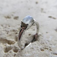Size 9 3/4, Size T, Size 61, Blue MOONSTONE Ring in 925 STERLING SILVER #0135