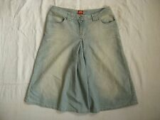 Miss Sixty Blue Jeans Shorts 3/4 Gr.S high waist loose fit short wide leg
