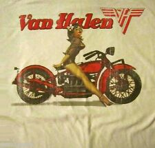VAN HALEN cd lgo BIKER PIN UP GIRL Official SHIRT SMALL new